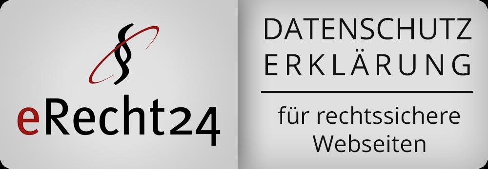 Siegel eRecht24 - Datenschutzerkärung