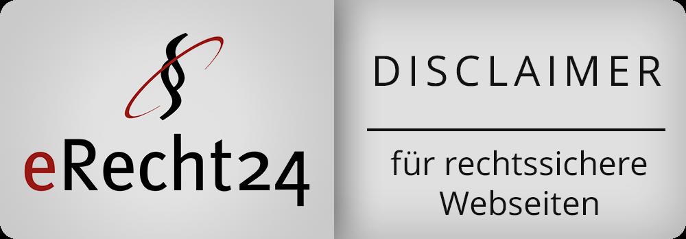 Siegel eRecht24 - Disclaimer