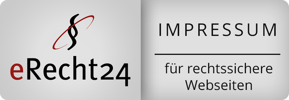 Siegel eRecht24 - Impressum
